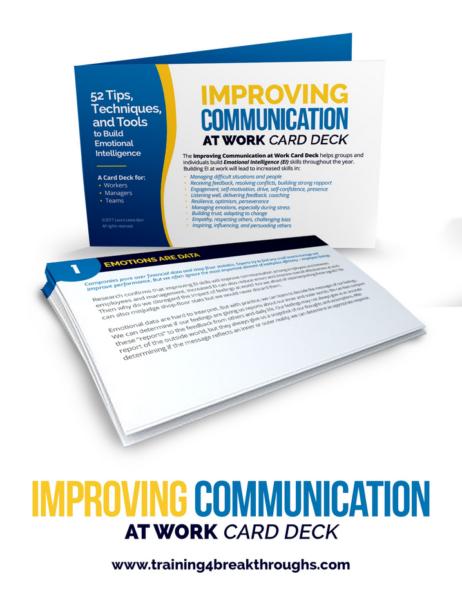 Improving Communication At Work Card Deck